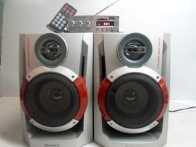 Amplificador Digital Com 2 Caixas De Som E Controle Remoto