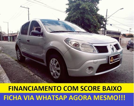 Renault Sandero Financiamento Com Score Baixo Entrada 3000