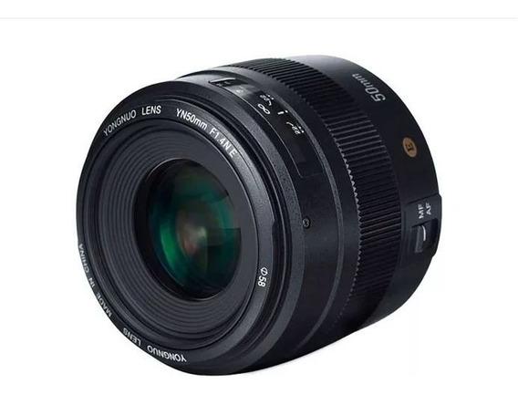 Lente Yongnuo 50mm 1.4 F1.4 N E Compatível Nikon Dslr