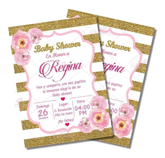 Invitaciones De Baby Shower Digitales Personalizadas