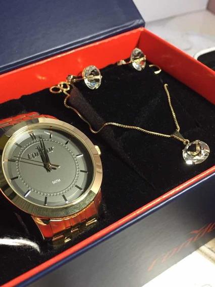 Relógio Condor Feminino Com Kit Co2036kvz/k4c