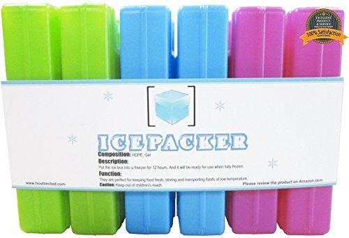 Ice Packs (6 Piezas) - Paquete De Congelador Frío