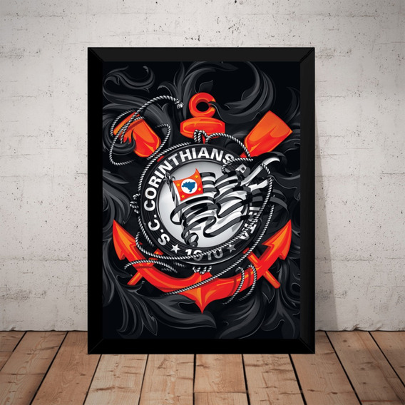Quadro Decorativo Corinthians Time Arte Poster Moldurado