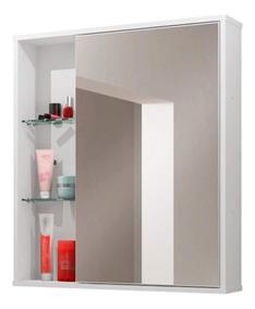 Espelheira Para Banheiro 1 Porta Miami Móveis Bechara Gj