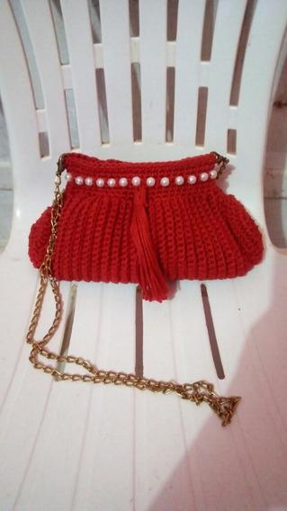 Bolsa Clutch De Crochê