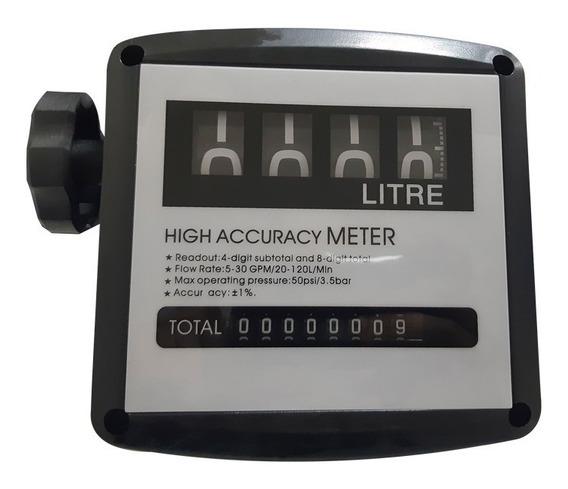 Cuenta Litros Mecanico - Caudalimetro 4/8 Digitos.
