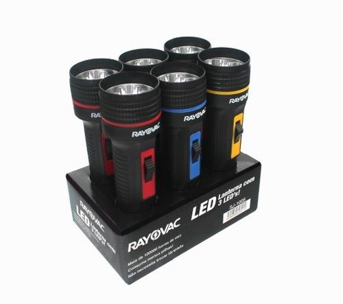 Imagem 1 de 5 de 6 Mini Lanternas Bandeja 3 Leds Rayovac Casa Sítio Bolsa