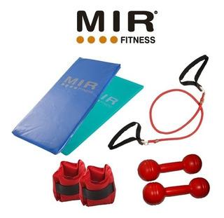 Kit Fitness Colchoneta +pesas 2 Kg Plasticas +tobilleras 2k