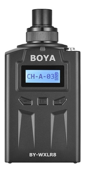 Transmissor Xlr Boya By-wxlr8 Plug-on Lcd P/ By-wm8 By-wm6