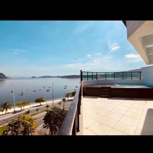 Cobertura Linear Com 4 Dormitórios À Venda, 239 M²  - Charitas - Niterói/rj - Co0377