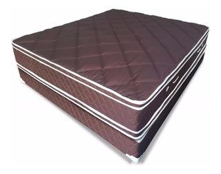 Somier Y Colchon Acuario 2 X 2 X 40 Pillow Fabrica