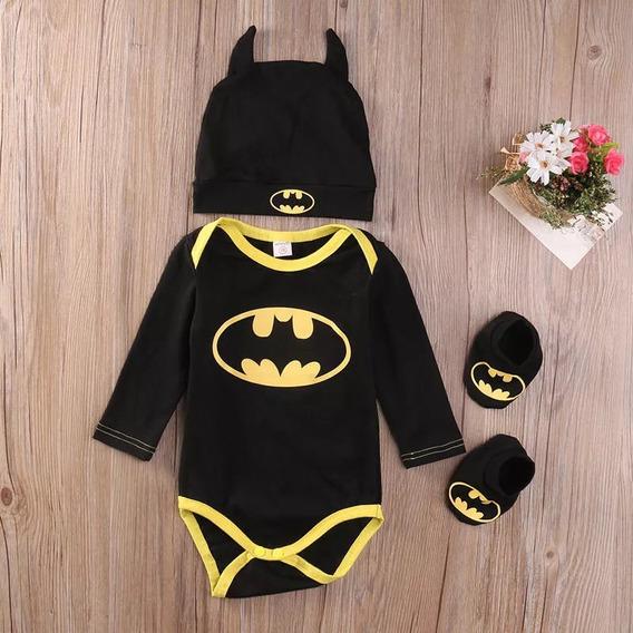 Bodie Bebê Batman 3 Peças Importado