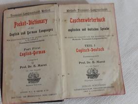 Dicionário Inglês ,alemão 1902 Langenscheidts No Estado-leia