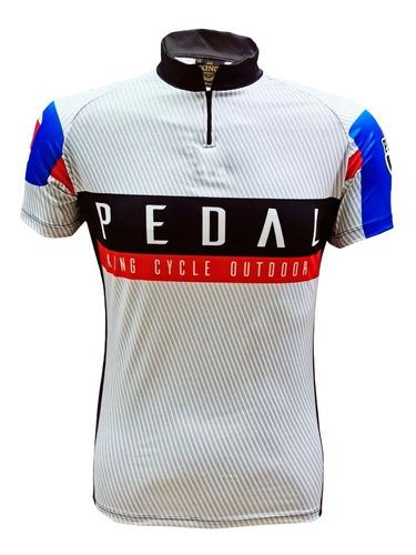 Imagem 1 de 3 de Camiseta De Ciclismo King Brasil 3 Bolsos - Pedal 04