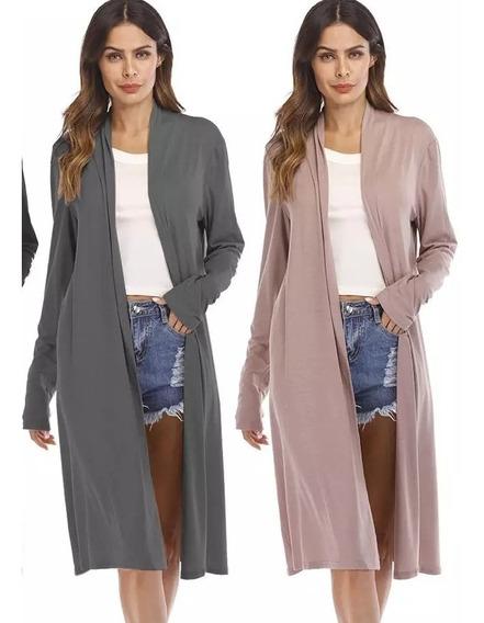 Cardigans Kimono Sobretodo Saco Largo Moda 2019