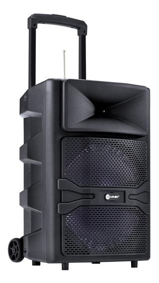 Caixa De Som Bluetooth Portátil Vinik 180w Usb/sd/aux/mic Preta