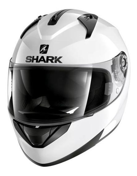 Capacete Shark Ridill Blank Whu Branco Viseira Interna
