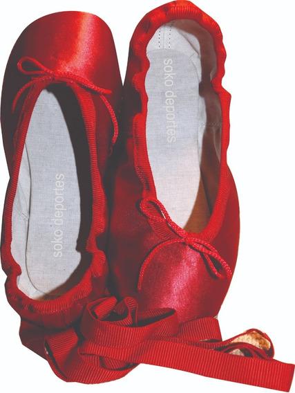 Zapatillas Puntas Ballet Con Cintas Profesional Arabesque