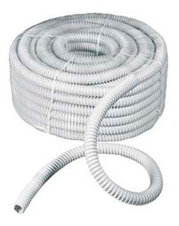Caño Corrugado Blanco 1 Pulga Rollo 25m