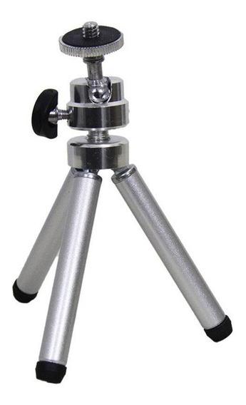 Kit Com 3 Mini Tripé Metal P/ Celular E Câmeras