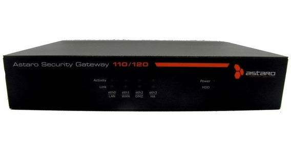Firewall Gateway Security Astaro Asg110/120 Seguranca Rede