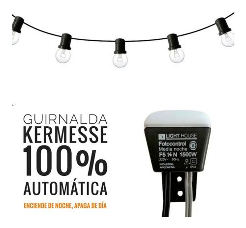 10 Mts Guirnalda Kermesse 100% Automática + Focos Vintage