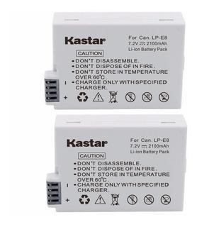 2-pack Baterias Lp-e8 Marca Kastar P/canon T2i T3i T4i T5i