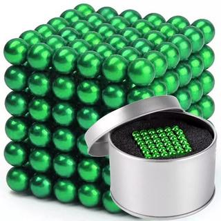 Juego Destreza 216 Piezas 5mm Neo Cube 216 Esferas Verde Xto