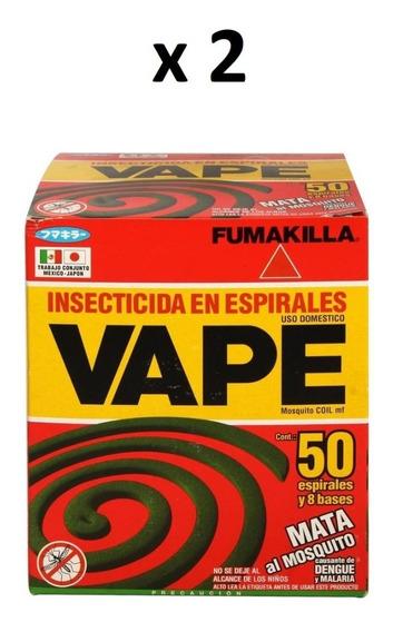 Insecticida Espirales Vape Mata Mosquito [2 Cajas De 50 C/u]