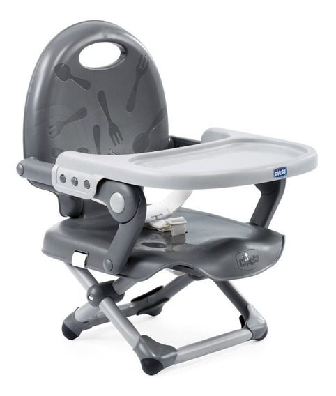 Cadeira De Alimentação - Pocket Snack - Dark Grey - Chicco