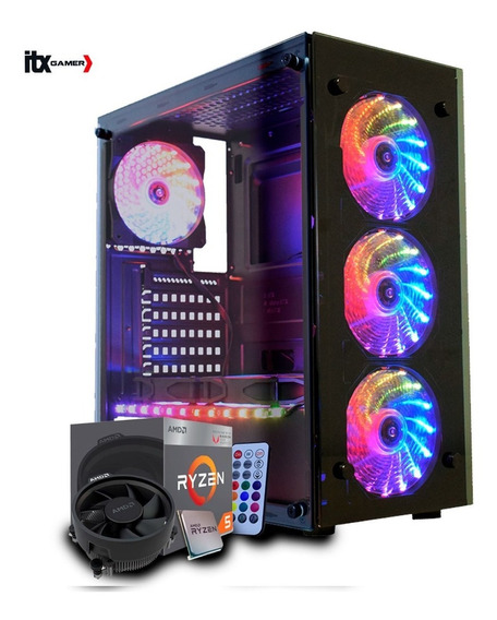 Pc Gamer Amd Ryzen 5 2400g Vega Graphics 11, 8gb Ddr4 Oferta
