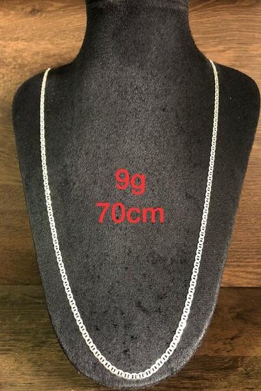 Colar De Prata Italiana 925 Modelo Tampa De Latinha 9g 70cm
