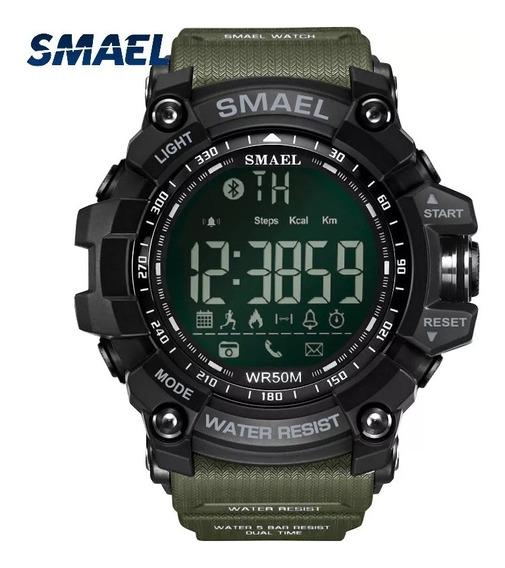 Relógio Smael Pedômetro Bluetooth Prova D