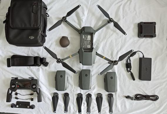 Drone Dji Mavic Pro 4k + 3 Baterias + Combo + Acessórios