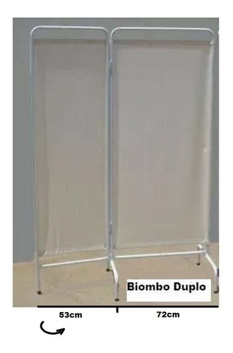 Biombo Duplo Em Lona Hospitalar