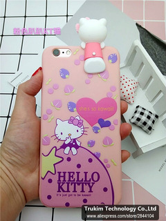 Funda iPhone 6 Plus Con Relieve Hello Kitty Pink