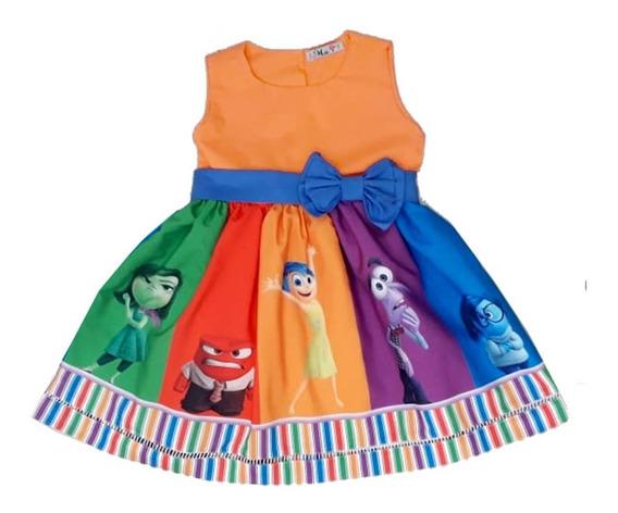 Vestido Festa Infantil Divertidamente 1 - 6 Anos