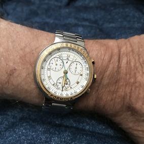 Relógio Baume Mercier Cronógrafo Pulseira Aço 13 Anos No M L