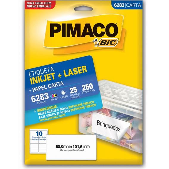 Etiqueta Pimaco 6283 - 25 Folhas - 50,8 X 101,6 Mm