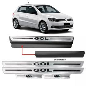 Soleira Premium Resinada Prata Com Vinil Volkswagen Gol