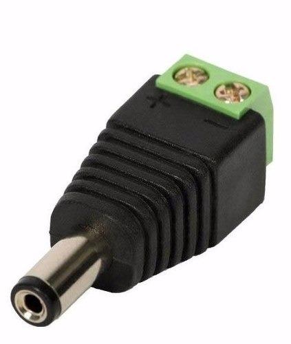 Kit Com 20 Conector P4 Macho Com Borne Para Cftv