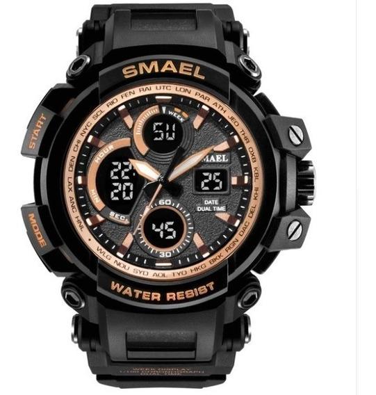 Relógio Smael Militar Camuflado Prova Dágua Original