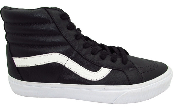 Tenis Vans Sk8 Hi Reissue Vn000za0ew9 Premium Leather Black