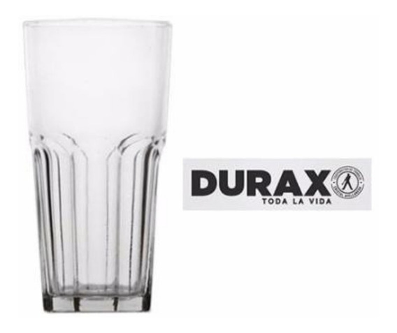 Vaso Facetado X6 330ml Transparente Durax Gaseosa Bar Resto