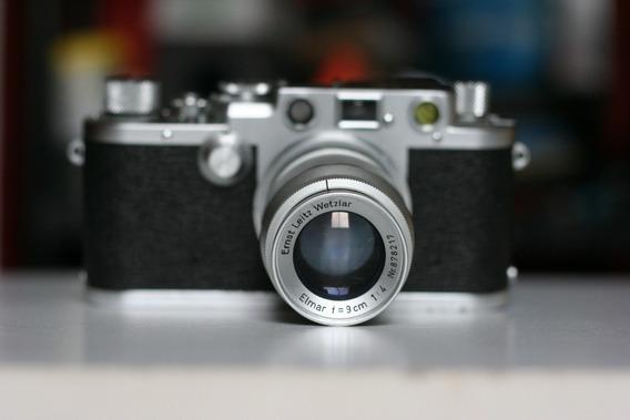 Lente Leica Elmar 90mm F:4 Em Ótimo Estado E Visor