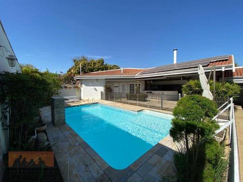Imagem 1 de 30 de Casa Com 4 Dormitórios À Venda, 295 M² Por R$ 1.700.000,00 - Condomínio Residencial Triângulo - Campinas/sp - Ca2251