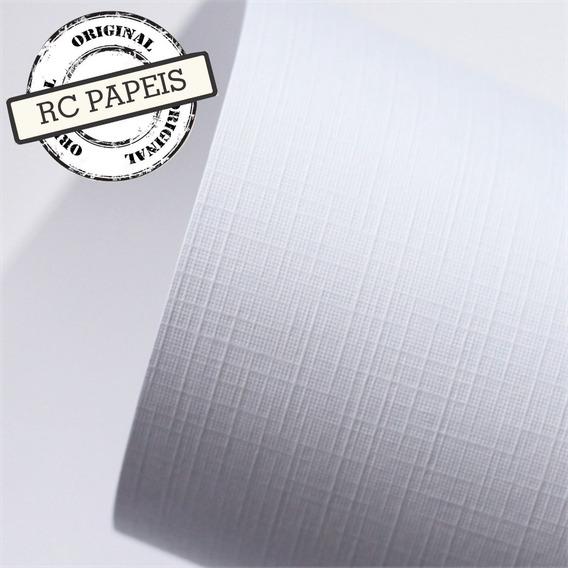 Papel Especial Branco Telado Linho A4 180g 200 Folhas