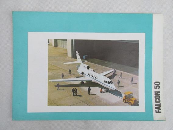 Antiguo Catalogo Avion Falcon 50 1976 Especificacion Tec #l