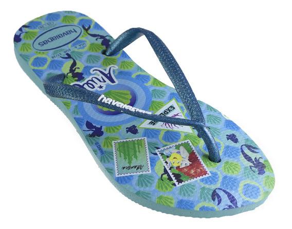 Ojotas Havaianas Sl Princess Niños Ice Blue