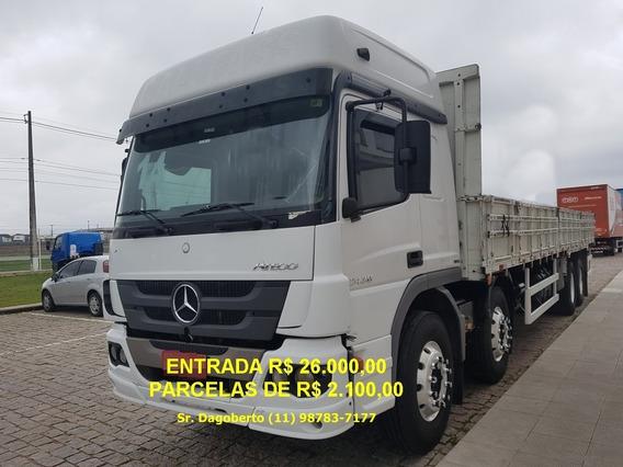Mb Atego 2430, 2014, 8x2, Bi-truck, Único Dono